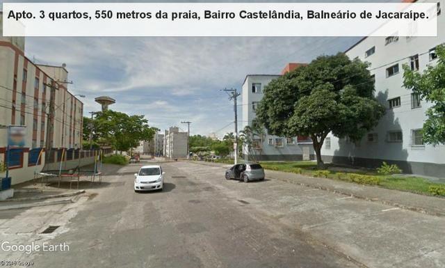 Apartamento 03 quartos, 3 º andar, sol da manha, 1.000 metros da praia, Castelândia - Foto 4