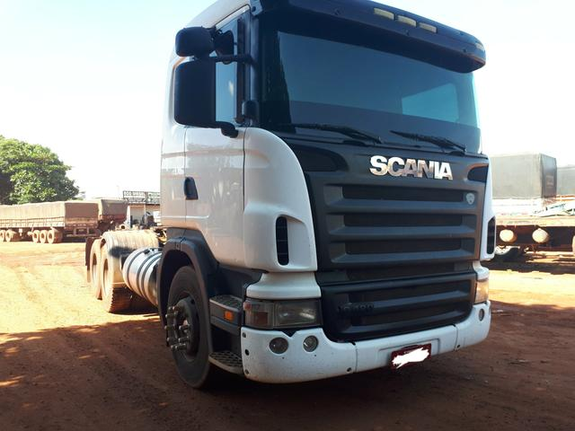 Caminhão Scania G420 6x2, Ano:2009/10, estava trabalhando
