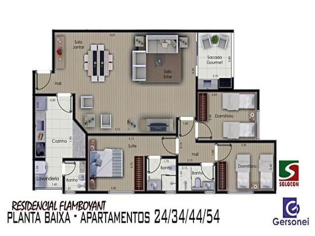 Apartamento à venda com 03 dormitórios em Nucleo agricola alpha, Franca cod:4604 - Foto 3