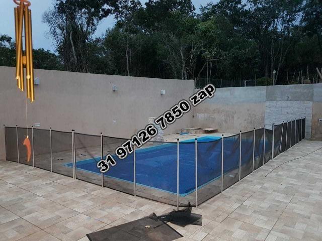 Urgente-Sítio Barato c/ Piscina-Casa Colonial Branca-3 qts-Pomar-Toda Murada-TOP - Foto 17