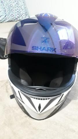 Capacete Shark s700 semi novo com viseira camaleao - Foto 3