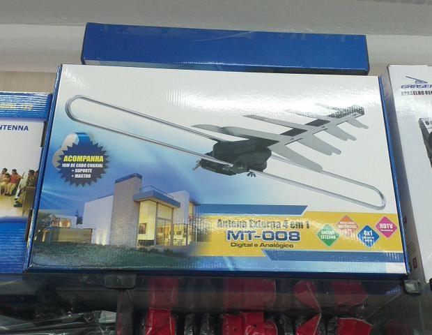 Kit antena externa 4em1 digital e analógico
