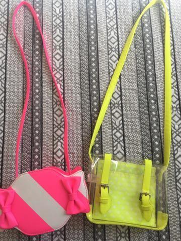 Vendo 2 lindas bolsinhas infantis neon importadas!