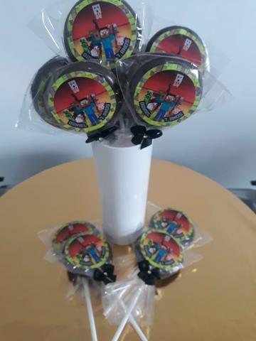 Pirulitos de chocolate R$ 0,90 com adesivo personalizado ENTREGA GRÁTIS - Foto 3