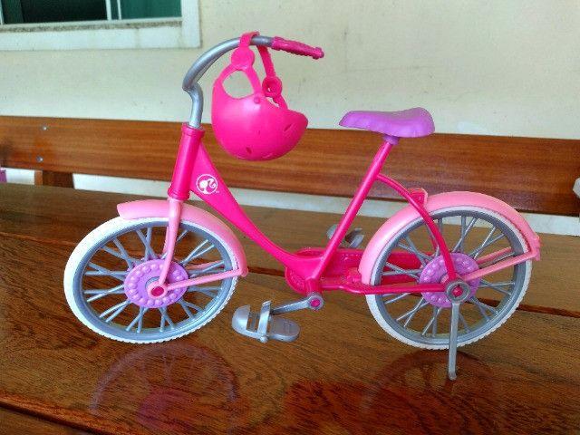 Bicicleta Barbie + Moto Monster Hugh - Mattel - Foto 3