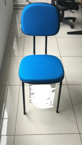 Cadeira fixa palito para escritório, cursos, igrejas sala de espera