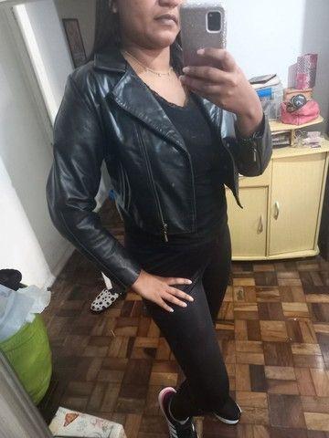 Jaqueta de couro legítimo feminina - Foto 2