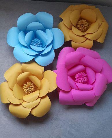 Flores Decorativas de Papel - Foto 3