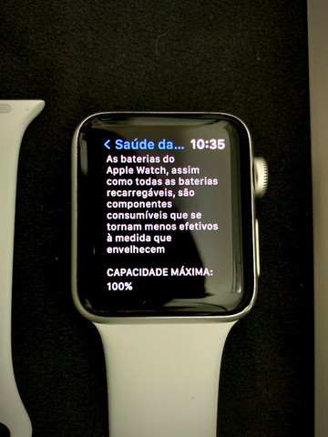 Apple Watch Series 3 (GPS) - 38mm - Branco - Foto 6