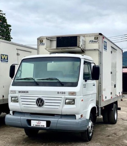 RI- caminhão volkswagen vw 8120 baú frigorifico 2017 - Foto 4