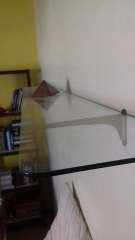prateleira de vidro antiga - Foto 3