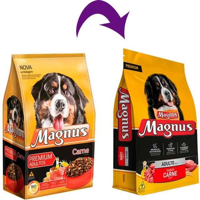 Magnus Premium Carne  Cães Adultos 10,1 kg por 70,00 - Foto 2