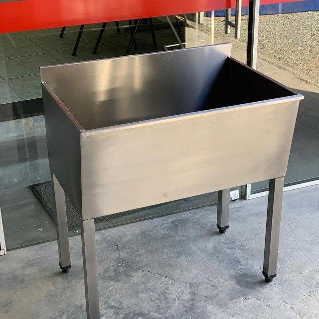 Tanque Aço Inox 0.80x0.50mt Fabricante Ideal Inox