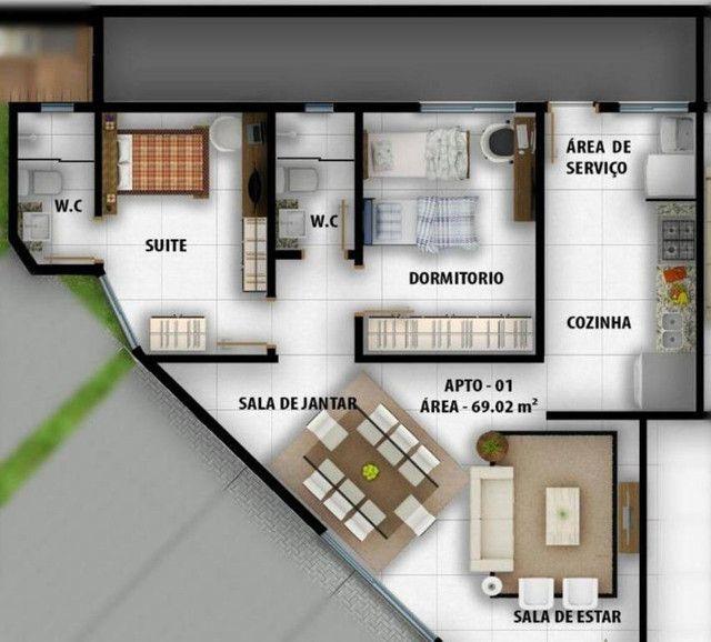 Apartamento à venda, 66 m² por R$ 183.000,00 - Castelo Branco - João Pessoa/PB - Foto 13