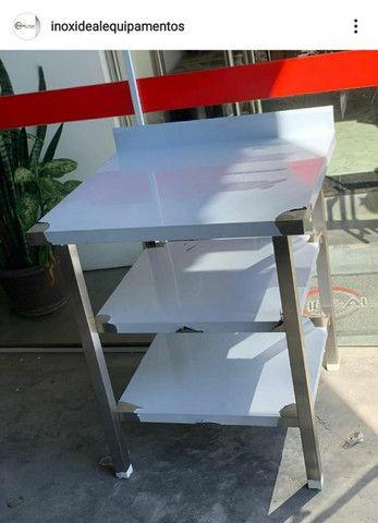 Bancada com 2 prateleiras Fabricante Ideal Inox
