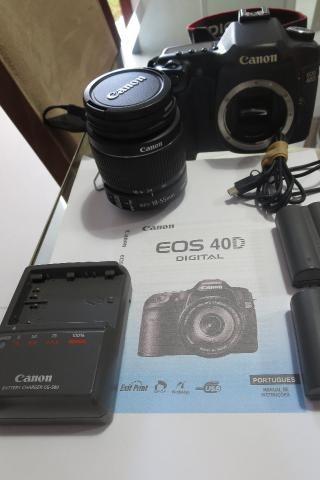 Câmera com lente Canon EOS 40D: excelente!
