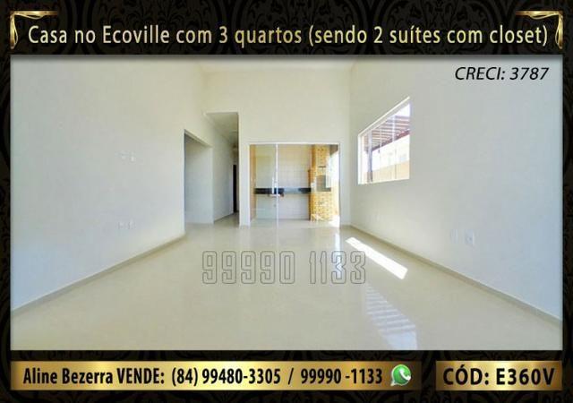 Casa no Ecoville com 3 quartos sendo 2 suítes com closet, e área gourmet - Foto 2
