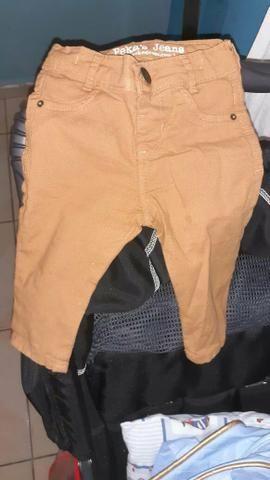Vendo calca jeans 3 meses a 7 meses .50.00
