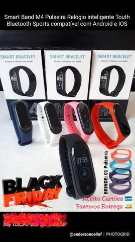 Smart Band M4 inteligente Touth Bluetooth Android e IOS com 2 Pulseiras