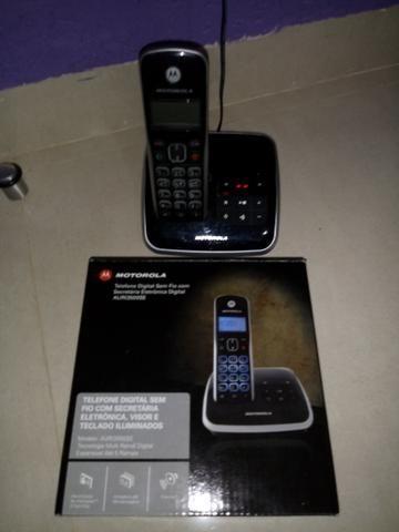 Telefone s/fio Motorola - secr. eletrônica, viva voz