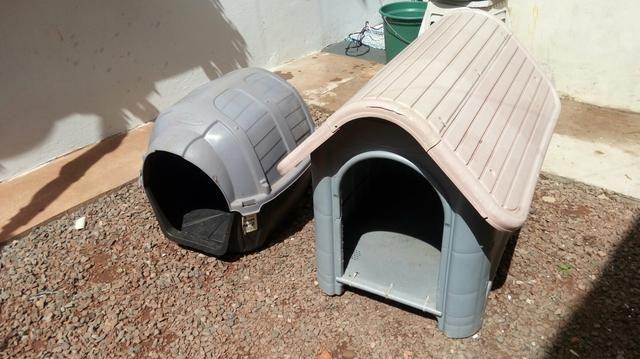 Vendo 2 casinhas de cachorro R$ 120.00 - Foto 2