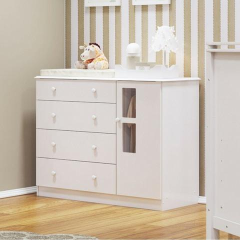 Cômoda Master Infantil 4 Gavetas 1 Porta - Biel *NOVO* ShopMix Móveis