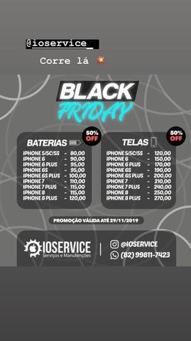 Black Friday de Tela e Bateria