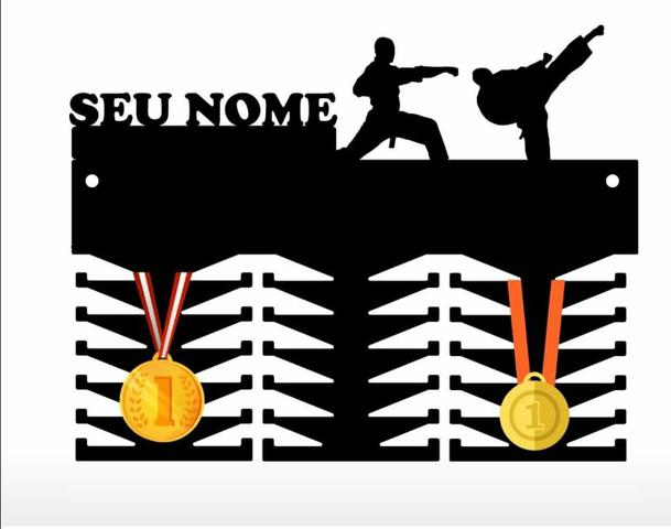 Porta Medalhas MDF Black Fosco 6mm Entrega Todo Brasil - Foto 5