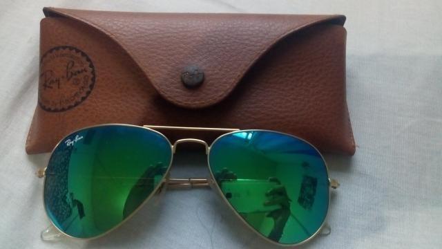 822707bc52d9f Óculos Ray Ban Aviador Espelhado Original - Bijouterias, relógios e ...