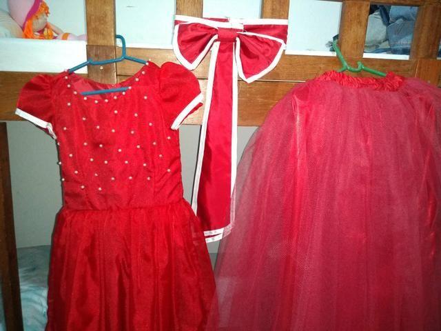 5d61658ee Vestido Daminha (Vermelho e Branco) - Roupas e calçados - Mangabeira ...