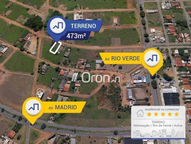 Terreno à venda, 473 m² por R$ 250.000,00 - Setor Faiçalville - Goiânia/GO - Foto 2