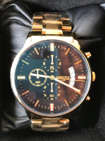 Relógio Masculino Nibosi Original Luxo Vidro Safira Anti-risco Lindo - Foto 4