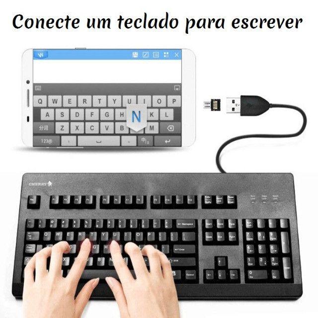 Adaptador Conversor Micro Usb Otg ou Tipo C para Android  Wpp: * - Foto 7