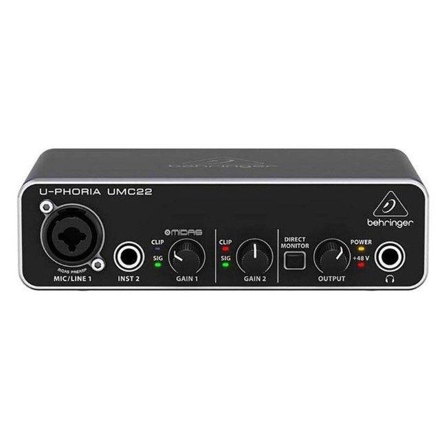 Behringer Interface de Áudio - Totalmente Nova (UMC22) - Foto 5