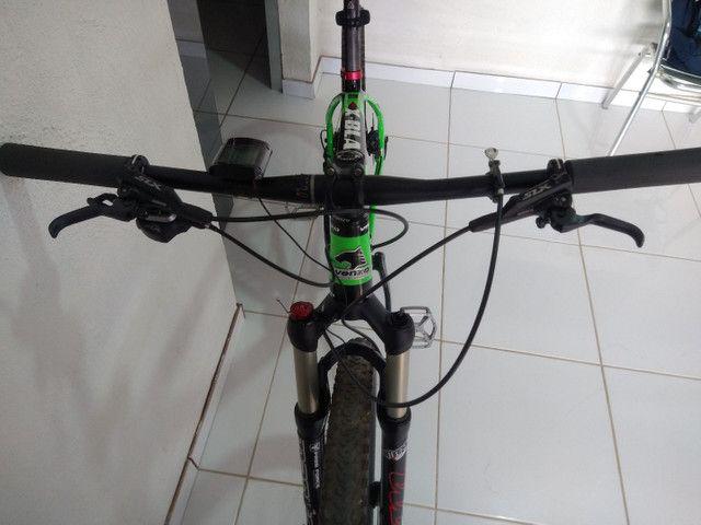 Bike aro 29 venzo x-blaze eno carbono  valor 9.000 - Foto 4