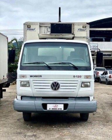RI- caminhão volkswagen vw 8120 baú frigorifico 2017 - Foto 2
