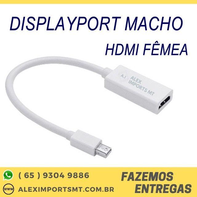 Adaptador Mini DisplayPort Macho para Hdmi Fêmea