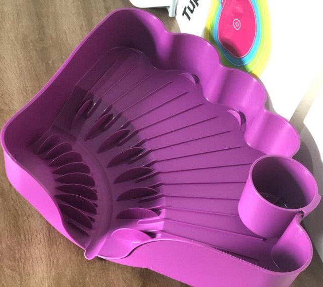 Tupperware Importada Escorredor De Louça Cor Roxo - Foto 4