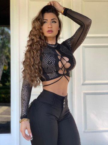 Calça Preta Fênix Brasil Empina Bumbum Estilo Pit Bull. - Foto 4