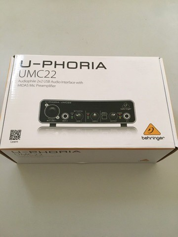 Behringer Interface de Áudio - Totalmente Nova (UMC22)