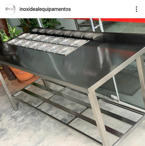 Mesa Bancada Condimentadora monte a sua fabricante Ideal Inox