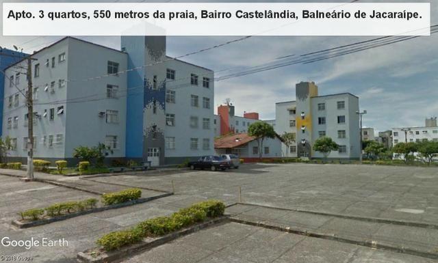 Apartamento 03 quartos, 3 º andar, sol da manha, 1.000 metros da praia, Castelândia - Foto 3