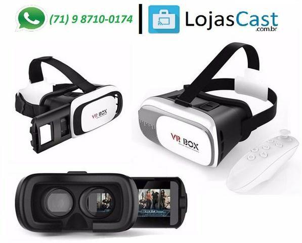 VR Box 2.0 - Oculos 3D VR - Realidade virtual P/ Smartphone Android e IOS - Com controle