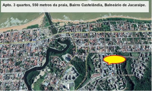 Apartamento 03 quartos, 3 º andar, sol da manha, 1.000 metros da praia, Castelândia - Foto 20