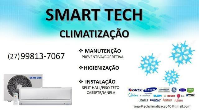 Instalação e higienização de ar condicionado - Smart Tech Climatização