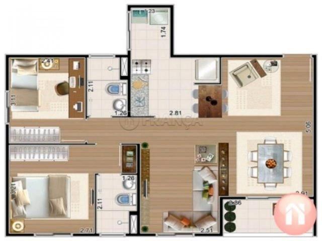 Apartamento à venda com 3 dormitórios em Cidade jardim, Jacarei cod:V2194 - Foto 20