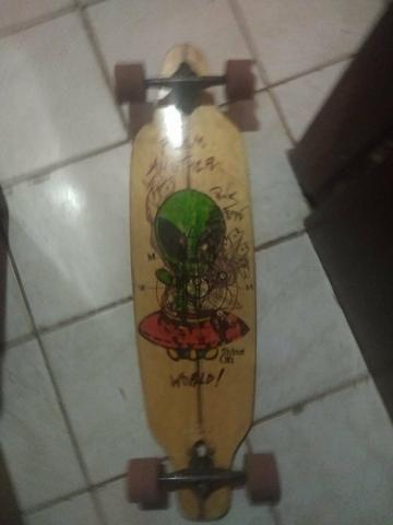 Skate longboard montado pra vender logo - Foto 4