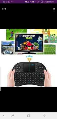 Teclado Sem Fio Para TV Smart Video Game,Pc e Notebook