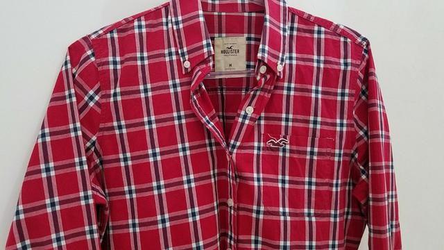 8a49e803c4 Camisa Xadrez Original Hollister. Tamanho M. Quase Nova! - Roupas e ...