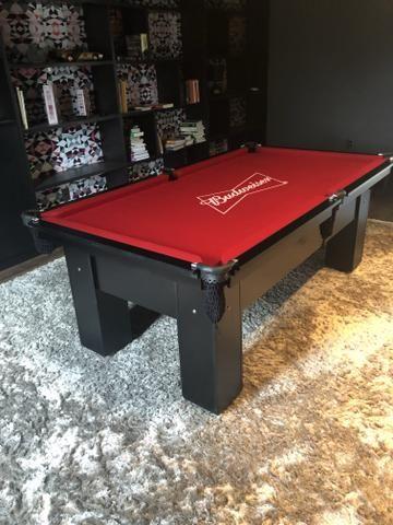 Mesa de Redinhas Tecido Vermelho Cor Preta Personalizada Bud Modelo BuD1909 - Foto 4